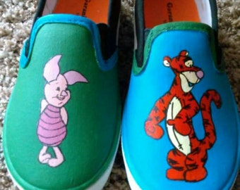 Children's hand painted shoes
