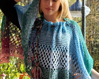 Summer poncho - airy and chic