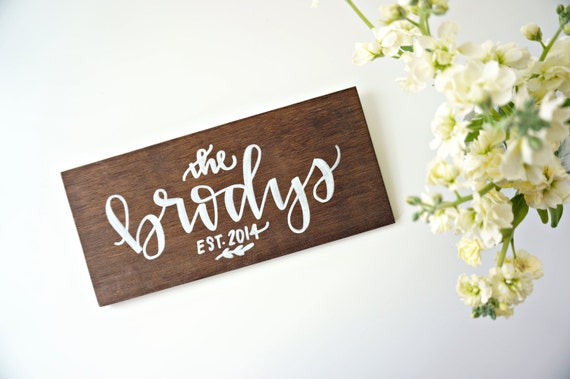 Wood Sign Home Decor Personalized Family Name By Songandpen