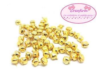 100 13x10mm Golden Bells