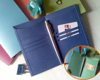 Pocket planner inserts accessories dashboard card holder for midori fauxdori travelers notebooks dori paper folder CHOICE of 6 SIZES