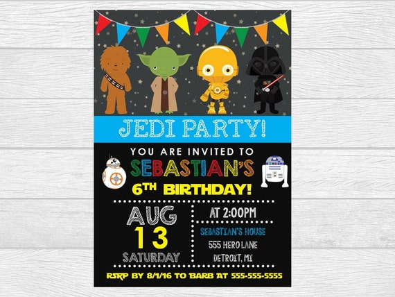 Star wars birthday, star wars invite, star wars invitation, birthday invitation, birthday invite, printable invitation, digital download