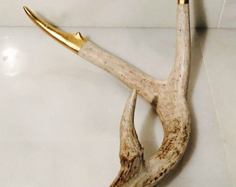 Large Hand Painted Antler