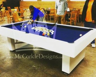 8ft Billiard Pooltable game with custom personalized  logo perfect for your college ,  university,  or man cave. and rec room