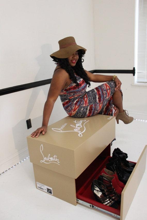 christian louboutin shoe box storage