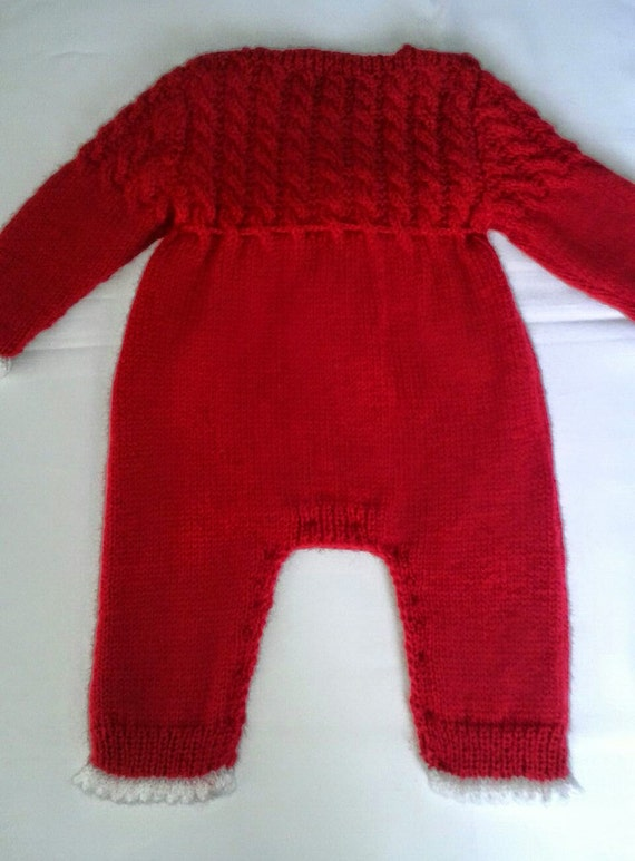 Long Sleevess Romperhat And Booties Knitting By