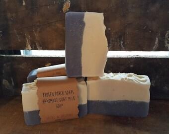 lilac & jasmine goat milk soap