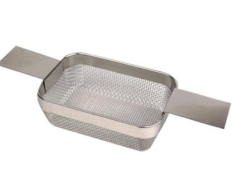 "Ultrasonic Jewelry Cleaning Basket 4""x 3""x1-1/2""  Mesh Screen for Holding Jewelry Pieces Watch Parts - CLNG-0001"