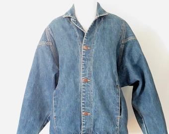 80's Jean Jacket Cherokee Jean Jacket Vintage Denim Coat 1980's Clothing
