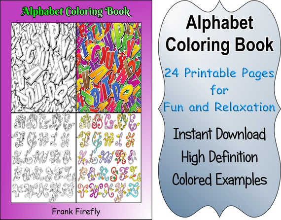 Galerry alphabet coloring book free download