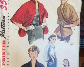Vintage 1950's Stole Pattern Simplicity 4477