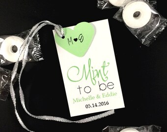 20 Mint to Be Wedding Tags, Wedding Party Bag Favors, Mint To Be Hang Tags,Wedding Favor Tags,Customized Mint To Be Wedding Party Favor Tags