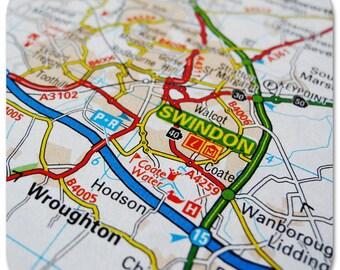 Swindon Map Coasters