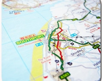 Southport Map Coasters