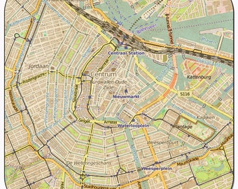 Amsterdam Vintage Map Coasters