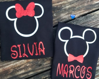 Personalized mickey n minnie shirts