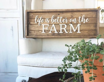 Life is Better on the Farm Tray Sign
