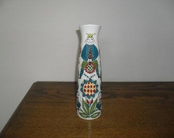 Saga Transfer Print Vase c1960+