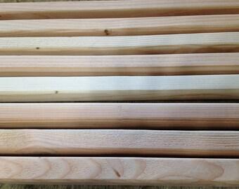 Wood teepee poles
