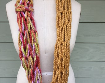 Gold and Confetti Infinity Scarf