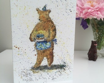 Happy Bear Day. Bear Greetings/Birthday Card