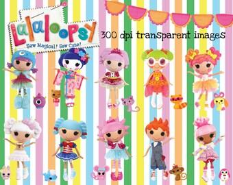 40 la muñeca Lalaloopsy imágenes en 300dpi de resolución gráfico Digital ~ alta calidad ~ fiesta de cumpleaños de Lalaloopsy