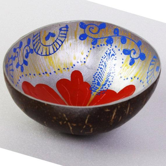 Classic Oriental Decorative Multipurpose Handmade Coconut Shell Bowl (PC 13)
