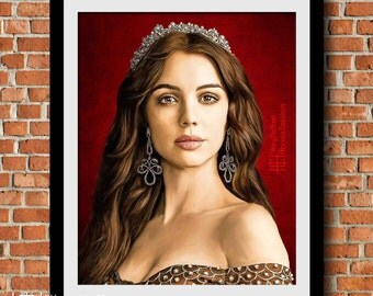 Mary Queen of Scots Digital Painting Print, Reign