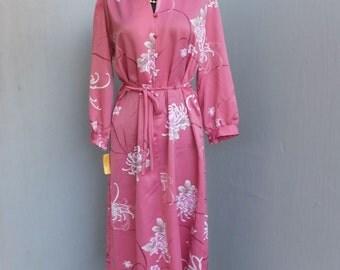 Vintage Polynesian Casuals, Hawaii, Shift Dress, Polyester Hawaiian Print Dress, Size 14, NOS, Unworn