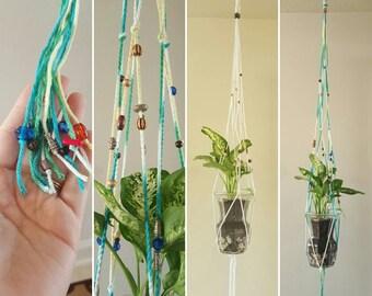 Crochet/macrame plant hanger