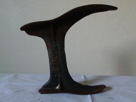 Vintage Cast Iron Shoe form Unbreakable Handy