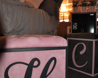 Upholstered Fabric Storage Cube, perfect for dorms