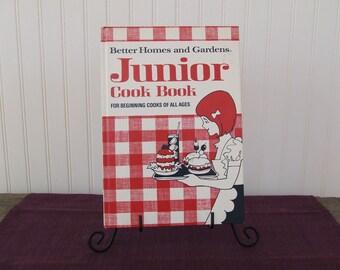 Better Homes and Gardens Junior Cookbook, Vintage Cookbook, 1972