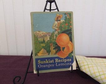 Sunkist Recips Oranges - Lemons, Vintage Cookbook, 1916