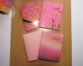 Mini Notebooks--Set of 4 Cute Mini Blank Notebooks
