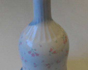 Pretty Floral Ceramic Wine / Water Pitcher Pink Room Decanter 9""