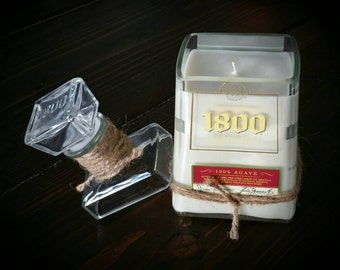 1800 Reposado candle with lid