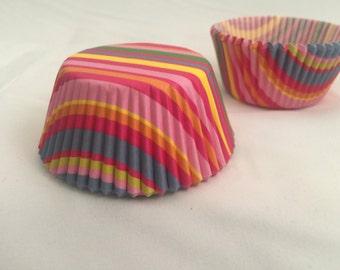 Rainbow cupcake baking liners #25