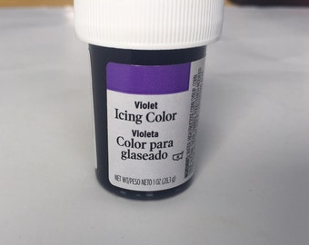 Purple violet icing color dye