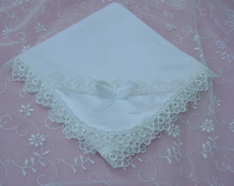 A Lovely White Baby/ Receiving Blanket
