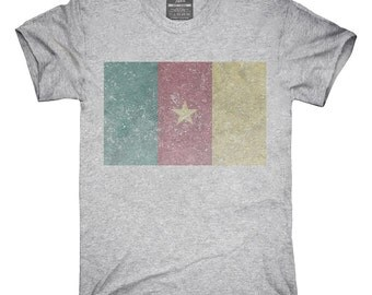 Retro Vintage Cameroon Flag T-Shirt, Hoodie, Tank Top, Gifts