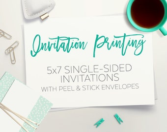 Invitation Printing Service // designtwentyfive // Printed Invitations // Quality Invitation Printing w/ envelopes