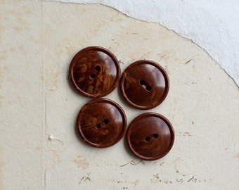 Vintage bakelite button set 1940s brown marbled bakelite buttons