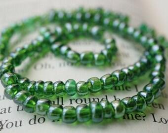 Lush Green, Seed Beads, Czech Beads