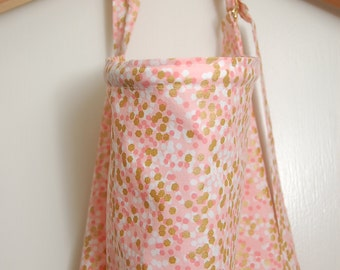 Pink and Gold Confetti Nursing Cover