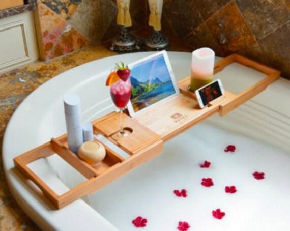 Royal Craft Wood Bathtub Caddy Bamboo Shower Bath By