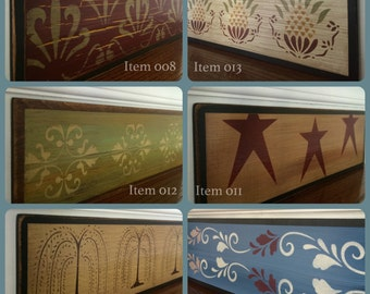 SALE 25% OFF / SET of 3 Rustic Primitive Country Farmhouse / Wood Stair Riser / Alternative to Vinyl Decals, Stair Stickers and Stair Decals