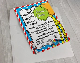 Printable Dr. Seuss Baby Shower Invitation