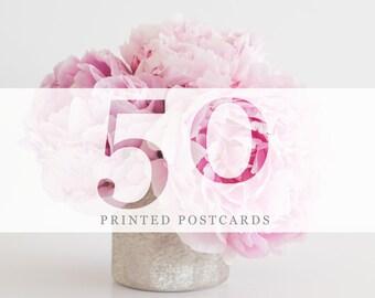 50 Printed Postcards