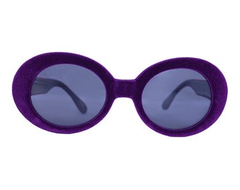 Velvet Feel 90s Sunglasses *Two Colors* ~ PURPLE or BLACK